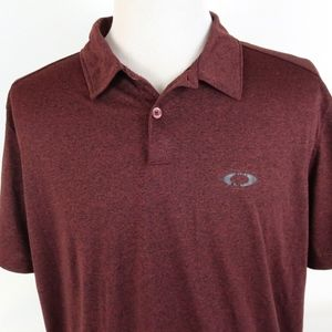 Oakley XXL Regular Fit Polo Shirt Heathered Red